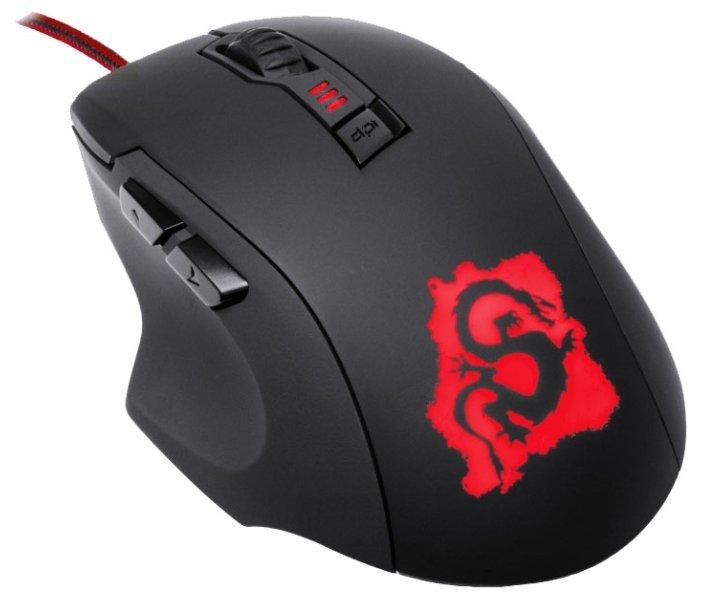 Oklick 725G DRAGON Gaming Optical Mouse Black-Red USB