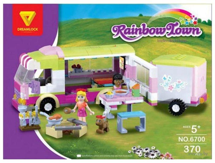 Конструктор DREAMLOCK Rainbow Town 6700 Автобус для пикника