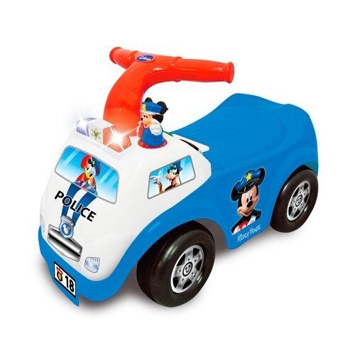 Купить Каталка-толокар Kiddieland Полицейская машина Микки Мауса (052407) со звуковыми эффектами синий/белый/красный, Каталки и качалки