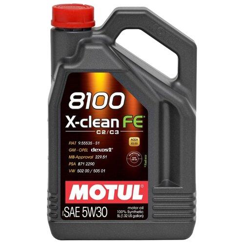 Моторное масло Motul 8100 X-clean FE 5W30 5 л моторное масло motul 8100 x clean fe 5w 30 1 л