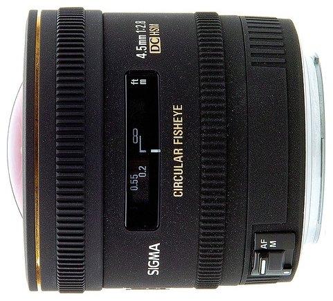 Sigma AF 4.5mm f/2.8 EX DC HSM Circular Fisheye Minolta A