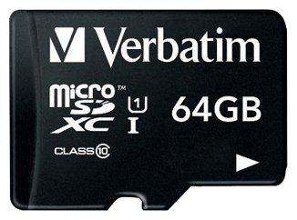 Карта памяти Verbatim microSDHC 64Gb Class 10