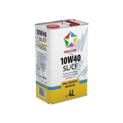 Полусинтетическое моторное масло XADO Verylube 10W-40 SL/CF, 4 л полусинтетическое моторное масло bardahl xtc 10w 40 sl cf 4 л
