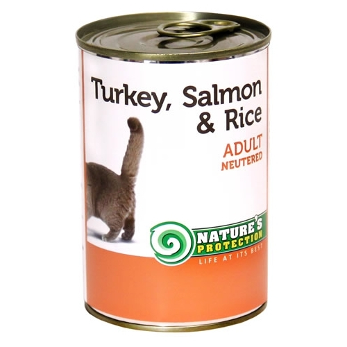 Корм для кошек Nature's Protection Консервы Neutered Turkey, Salmon & Rice (0.4 кг) 1 шт.