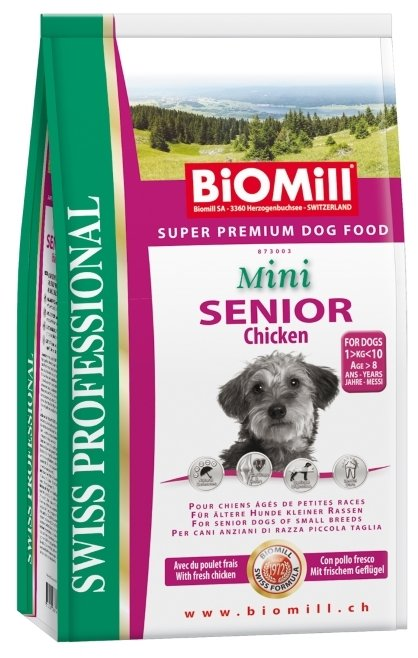 Корм для собак Biomill Swiss Professional Mini Senior Chicken (3 кг)