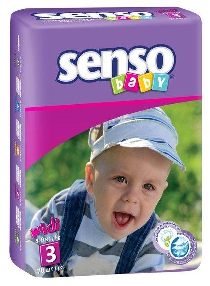 Senso baby подгузники 3 (4-9 кг)