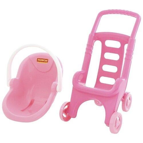 Купить Прогулочная коляска Полесье Pink Line 2x1 (44525) розовый, Коляски для кукол
