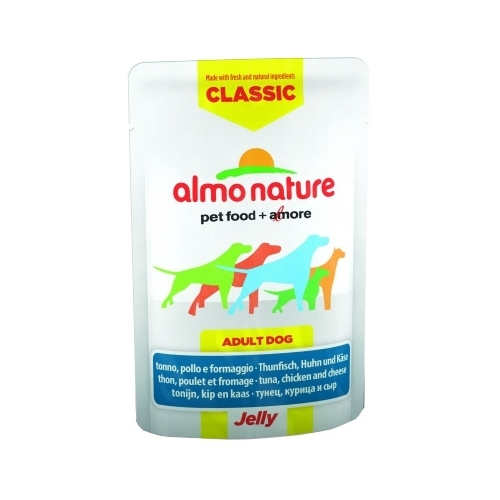 Корм для собак Almo Nature (0.07 кг) 1 шт. Classic Adult Dog Tuna, Chicken and Cheese - Jelly
