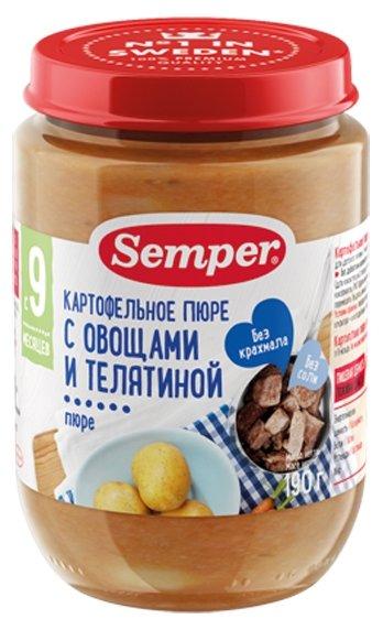 Пюре Semper картофельное пюре с морковью и телятиной (с 9 месяцев) 190 г