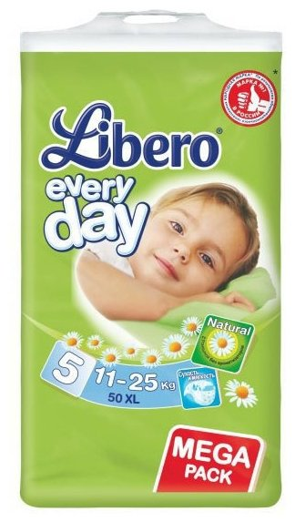 Libero подгузники Everyday 5 (11-25 кг) 50 шт.