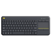 Клавиатура Logitech Wireless Touch Keyboard K400 Plus Black USB