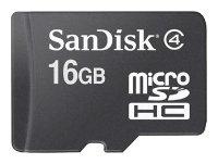 Карта памяти SanDisk microSDHC Card Class 4 + SD adapter