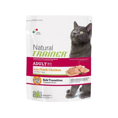 TRAINER Natural Adult cat Fresh Chicken dry (0.3 кг) Корма для кошек