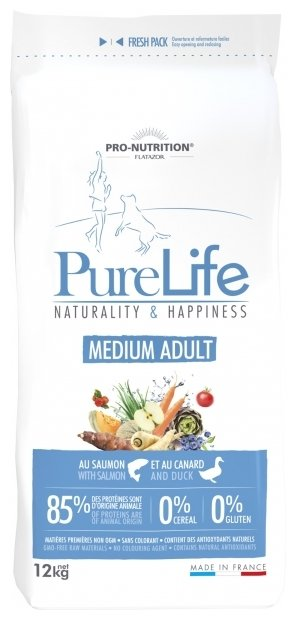 Корм для собак Flatazor Pure Life Medium Adult (12 кг)