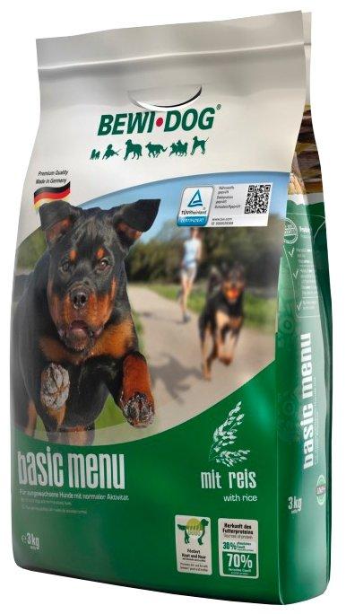 Корм для собак Bewi Dog Basic Menu with Rice для собак с нормальным уровнем активности. Хлопья для заваривания (3 кг)