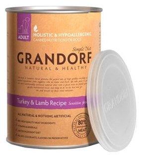 Корм для собак Grandorf Индейка с ягнёнком для взрослых собак всех пород (0.4 кг) 1 шт.