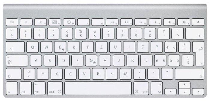 Apple Wireless Keyboard MC184 White Bluetooth