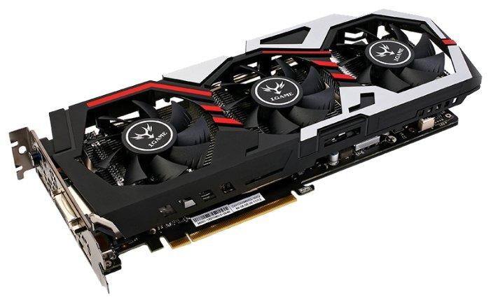 Видеокарта Colorful GeForce GTX 1060 1594Mhz PCI-E 3.0 3072Mb 8008Mhz 192 bit DVI HDMI HDCP iGame U-TOP