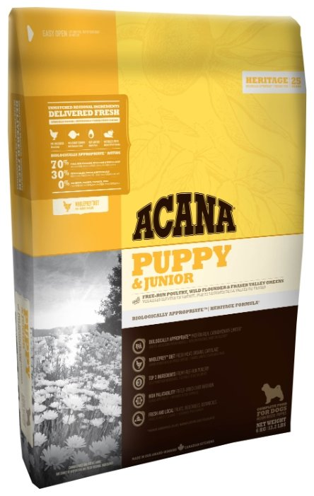 Корм для собак Acana Heritage Puppy & Junior