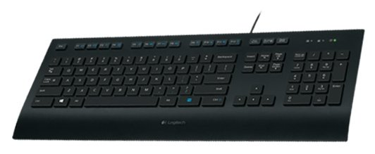 Logitech Corded Keyboard K280e Black USB