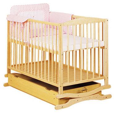 Кроватка Klups Radek 2 (с ящиком и качалкой), тик