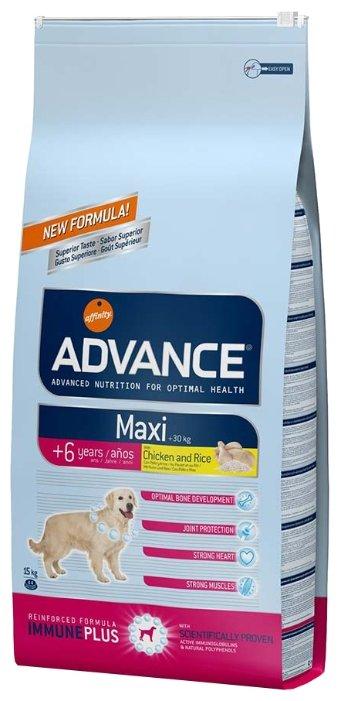 Корм для собак Advance Maxi 6+ курица и рис