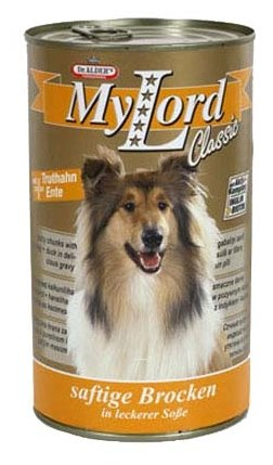 Корм для собак Dr. Alder`s МОЙ ЛОРД КЛАССИК утка + индейка кусочки в желе Для взрослых собак (1.24 кг) 6 шт.