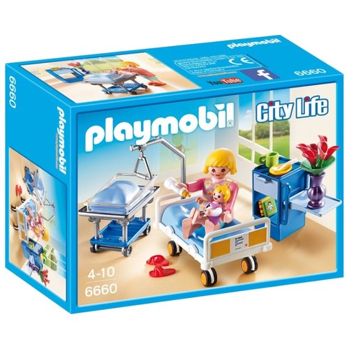 Набор с элементами конструктора Playmobil City Life 6660 Детская палата playmobil игровой набор детская клиника доктор с ребенком