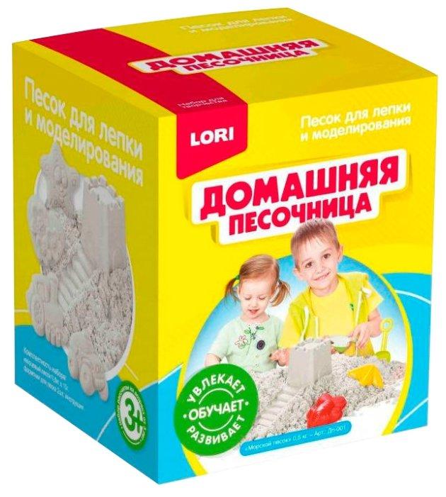 Кинетический песок LORI Домашняя песочница. Морской (Дп-001)