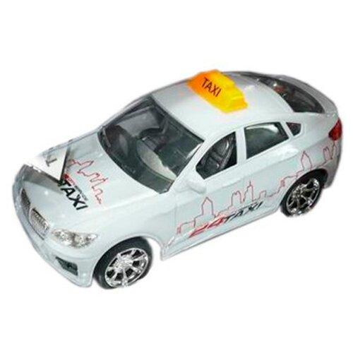 Фото - Легковой автомобиль Пламенный мотор Такси (87644), 18 см, белый эвакуатор пламенный мотор 870364 13 см белый