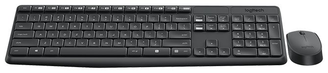 Logitech MK235 Wireless Keyboard and Mouse Black USB