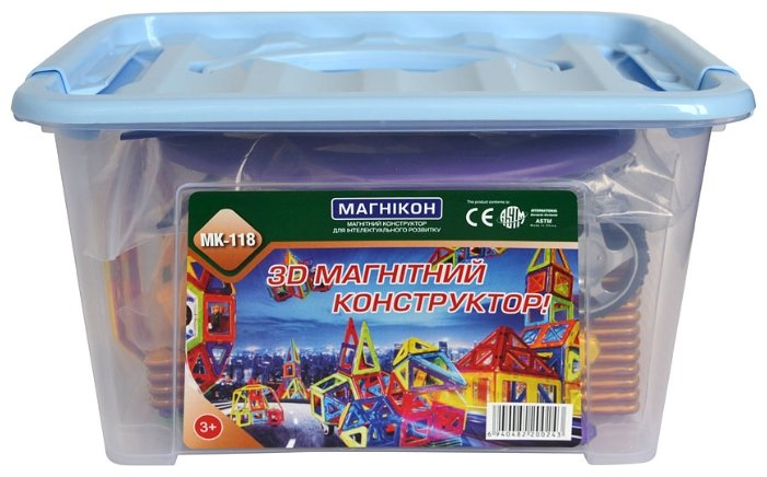 Магнитный конструктор Магникон Эксперт MK-118