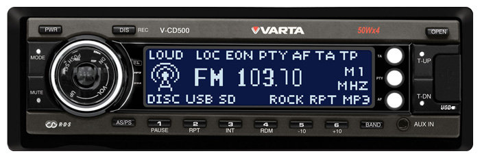 Автомагнитола VARTA V-CD500