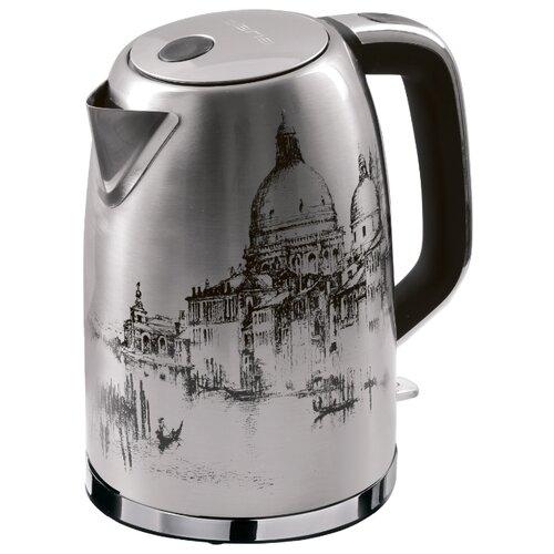 Чайник Polaris PWK 1763CA Italy, серебристый чайник электрический polaris pwk 1763ca