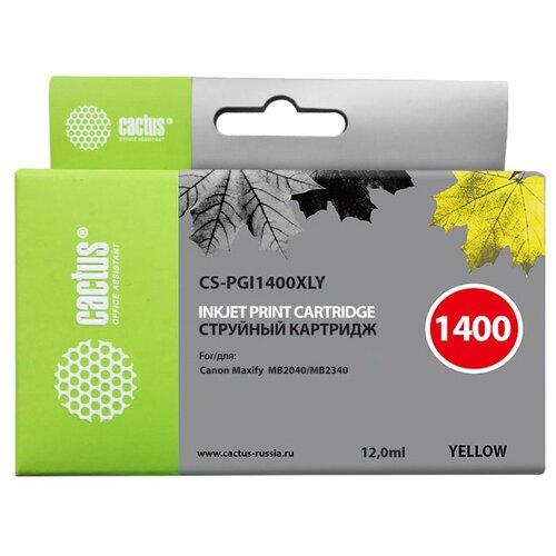 Картридж cactus CS-PGI1400XLY, совместимый картридж cactus cs pgi1400xlm совместимый
