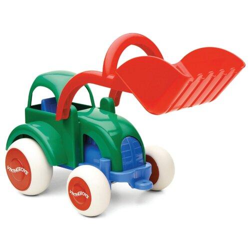 Купить Трактор Viking Toys Jumbo (1215/31215) 25 см красный/зеленый/синий, Машинки и техника
