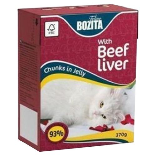 Корм для кошек Bozita Feline chunks in jelly with Beef liver (0.37 кг) 1 шт.