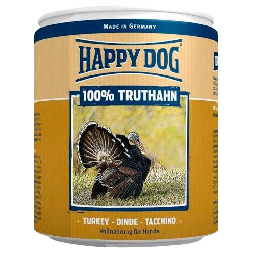 Влажный корм для собак Happy Dog 100% Мясо Фермерский продукт, индейка 400 г