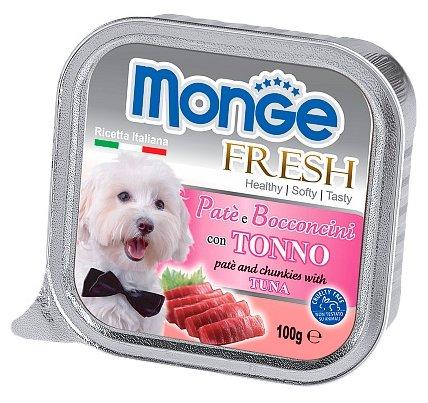 Корм для собак Monge Fresh тунец 3шт. х 100г