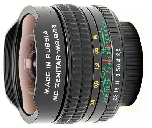 Объектив Зенит Зенитар Н 16mm f/2.8 байонет Nikon новый дизайн