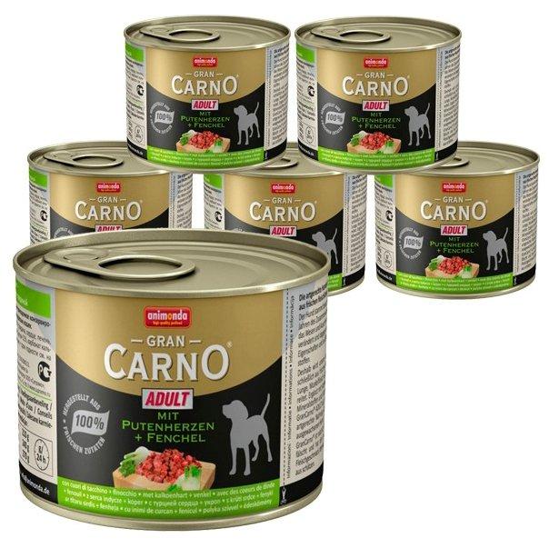 Корм для собак Animonda GranCarno сердце с фенхелем 6шт. х 200г