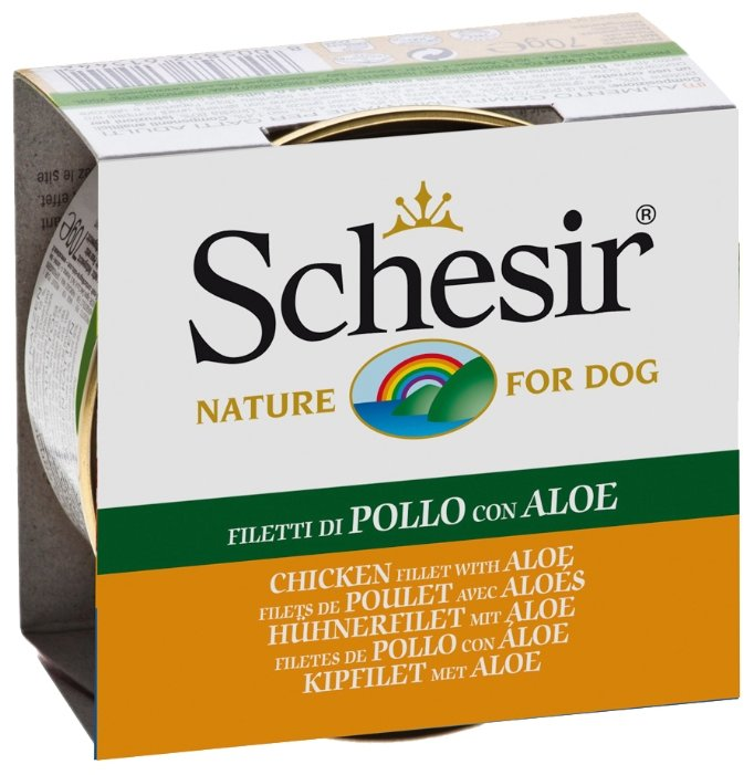 Корм для собак Schesir курица с алоэ верой 150г
