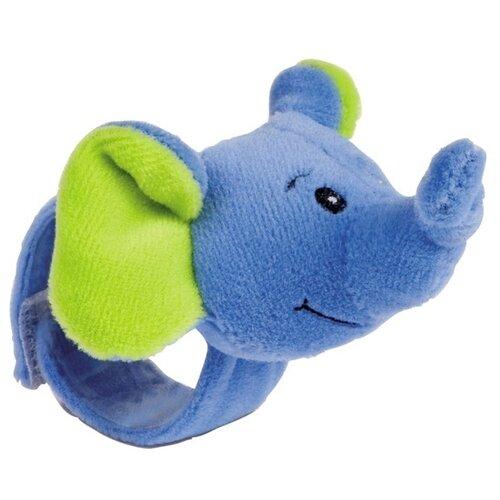 Погремушка Canpol Babies Hand Plush Rattle Friends from the jungle 68/005 синий слоникПогремушки и прорезыватели<br>