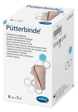 931814 Putterbinde 100% хлопок. с зажимами /цвет кожи/: 5 м х 8 см; 10 шт.