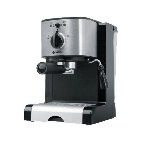Кофеварка рожковая VITEK VT-1513 серебристый/черныйКофеварки и кофемашины<br>