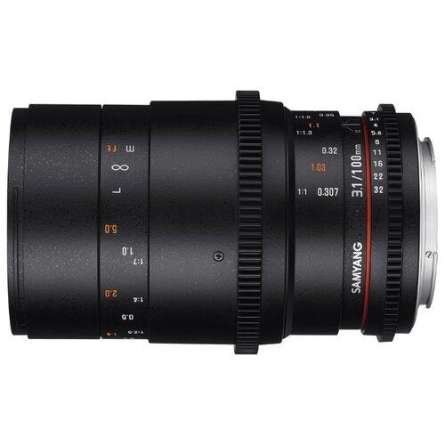 Фото - Объектив Samyang 100mm T3.1 VDSLR ED UMC Macro Canon EF объектив samyang 24mm t1 5 ed as umc vdslr canon ef