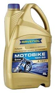 Моторное масло Ravenol Motobike 4-T Ester SAE 10W-50 4 л
