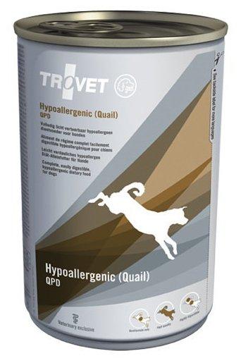 Корм для собак TROVET Dog Hypoallergenic QPD (Quail) canned