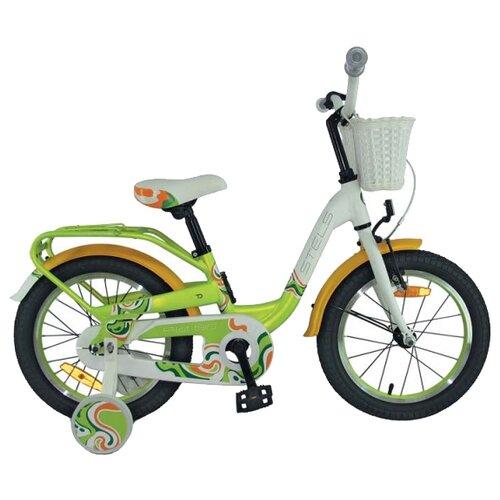 Детский велосипед STELS Pilot 190 16 V030 (2018) зелёный/жёлтый/белый (требует финальной сборки) велосипед stels pilot 450 2015