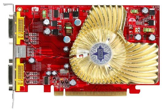 MSI Видеокарта MSI Radeon X1650 Pro 600Mhz PCI-E 256Mb 800Mhz 128 bit 2xDVI TV YPrPb